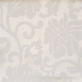 Newbury - Pearl - Pearl white fabric with classic floral pattern