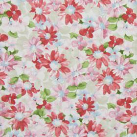 Pot Pourri - Vintage - Classic fabric with vintage pink country style flowers printed