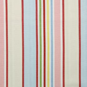 Addison - Chintz - Chintz pink and blue striped modern fabric