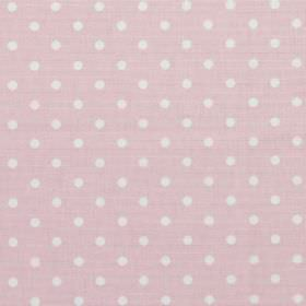 Nancy - Rose - Rose pink fabric with white polka dots
