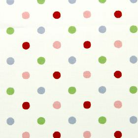 Millie - Vintage - White vintage fabric with colourful spots