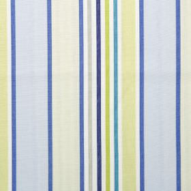 Addison - Cornflower - Cornflower blue and green striped modern fabric