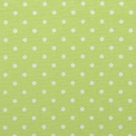 Nancy - Acorn - Acorn green fabric with white polka dots