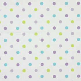 Millie - Lavender - White vintage fabric with lavender purple spots
