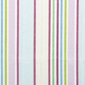 Addison - Lavender - Lavender purple and blue striped modern fabric