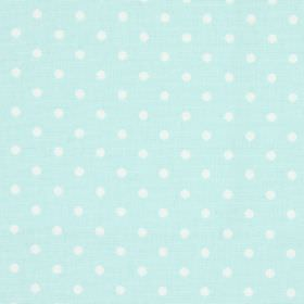 Nancy - Duck Egg - Duck egg blue fabric with white polka dots
