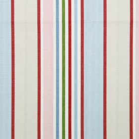 Addison - Vintage - Vintage pink and blue striped modern fabric