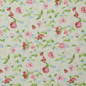 Daisy Chain - Vintage - Classic country daisy design in vintage pink on white fabric