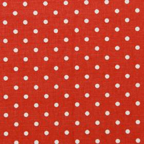 Nancy - Cherry - Cherry red fabric with white polka dots