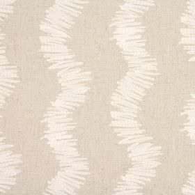Needlepoint - Natural - Roughly scribbled wavy white lines over a background of blended fabric in a pale brown-beige colour