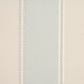 Weave - Peppermint - 100% cotton fabric with a simple striped design in pale shades of grey and pink, as well as white