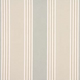 Cord - Peppermint - Striped fabric made from cotton in white, grey and rusty brown