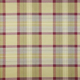 Munro - Vintage - Checked fabric made from mulberry, pale blue and apple green coloured cotton