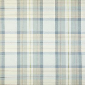 Munro - Chambray - Checked 100% cotton fabric made using light, fresh colours including white, pale blue and very light green