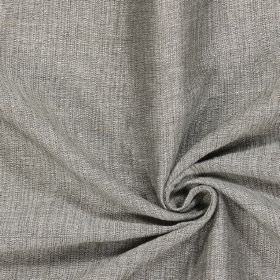 Chianti - Slate - Plain grey fabric which has been woven with some off-white threads