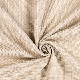 Adlington - Sand - White and caramel coloured cotton threads woven together into this fabric