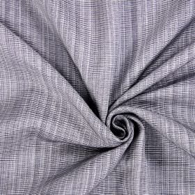 Adlington - Slate - Cotton fabric made from fairly dark grey and white threads being woven together