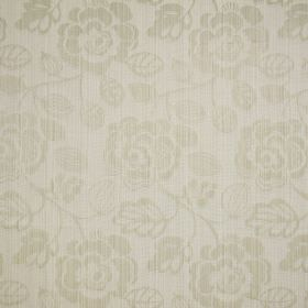 Stamford - Linen - Ivory coloured striped florals as a very subtle pattern on a woven cotton background in the same colour