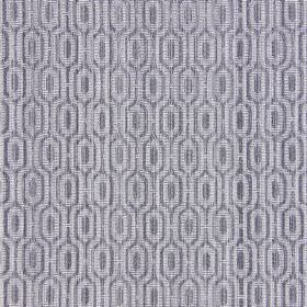 Witton - Slate - Grey and white cotton fabric which has been woven into a pattern of angular lines and geometric shapes