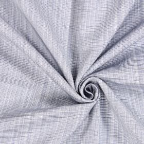 Adlington - Sky - Grey and white woven fabric made from cotton
