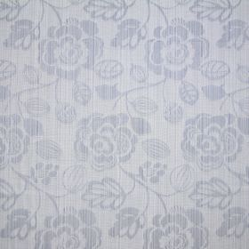 Stamford - Sky - A light grey floral design with subtle lines running through it in both directions on cotton fabric in the same colour