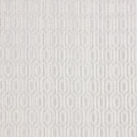 Witton - Silver - Some slightly raised threads within a woven pattern on this light grey and white cotton fabric