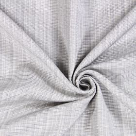 Adlington - Silver - Woven cotton fabric in grey and white