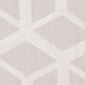 Mellora - Blush - Blush brown fabric with light grey lines creating a 3D cube effect