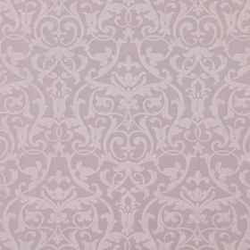 Bliss - Blush - Blush brown fabric with a classic baroque leaf and vine pattern