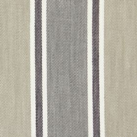 Rae - Smoke - Smoke grey and sandy banded fabric