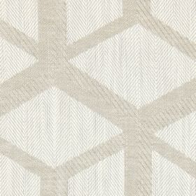 Mellora - Linen - Linen coloured fabric with light grey lines creating a 3D cube effect