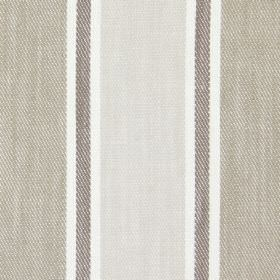 Rae - Linen - Dark and light sandy banded fabric
