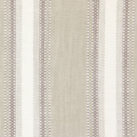 Railey - Linen - Fabric with linen sandy bands and white stripes