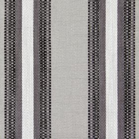 Railey - Ash - Fabric with ash brown bands and sandy stripes
