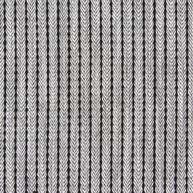 Dori - Ash - Ash black fabric with narrow stripes