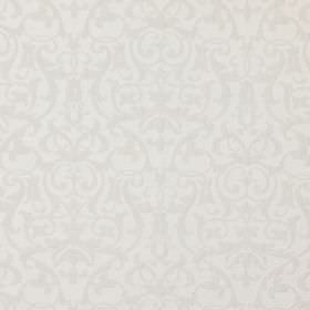 Bliss - Smoke - Smoke grey fabric with a classic baroque leaf and vine pattern