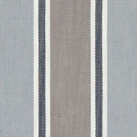Rae - Denim - Denim blue and brown banded fabric