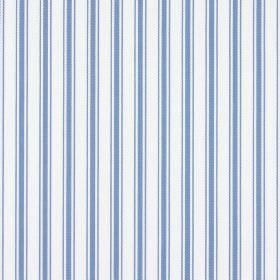 Deck - Denim - Fabric made from vertically striped 100% cotton in baby blue and white