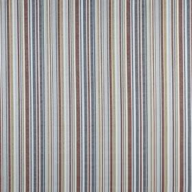 Spinnaker - Coral - Several different light and dusky shades of blue and grey covering 100% cotton fabric in a vertical stripe design