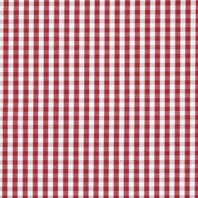 Captain - Red - Maroon and white coloured checked 100% cotton fabric