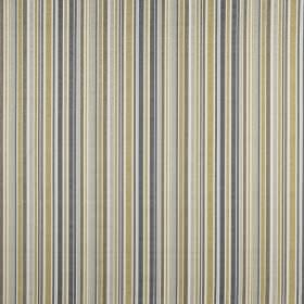 Spinnaker - Pebble - Vertically striped fabric made from 100% cotton in white, beige and light shades of blue and grey
