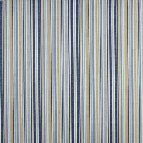 Spinnaker - Periwinkle - Fabric made from 100% cotton, printed with vertical stripes of different sizes in various shades of blue and grey