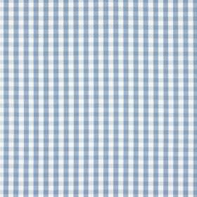 Captain - Denim - 100% cotton fabric featuring a small gingham style checked pattern in white and light blue