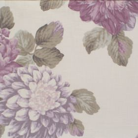 Bolero - Orchid - Orchid purple flower impression on white fabric