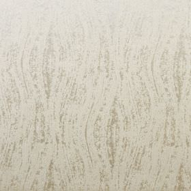 Corian - Oyster - Wavy lines printed patchily in grey onto fabric made from 100% polyester in a light cream colour