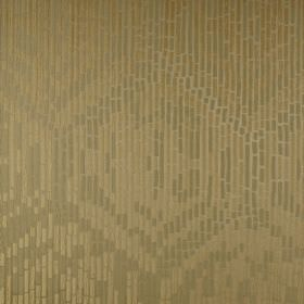 Malacassa - Avocado - Metallic gold coloured fabric made from 100% polyester, featuring a design made up of short, dashed lines