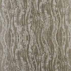 Marble - Linen - Wavy lines printed with patchy colouring on 100% polyester in a pale shade of grey and a darker brown-grey colour
