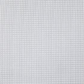 Gauze - White - Fabric which is hard wearing and printed with a very simple, subtle grid pattern in very light grey-white