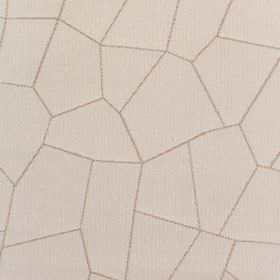 Paving - Stone - Fabric which is hard wearing and a warm cream colour, printed with thin brown lines which create crazy paving shapes