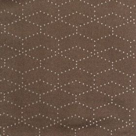 Honeycomb - Latte - Hard wearing fabric in a rich brown colour, patterned with hexagons made up of tiny cream coloured dots